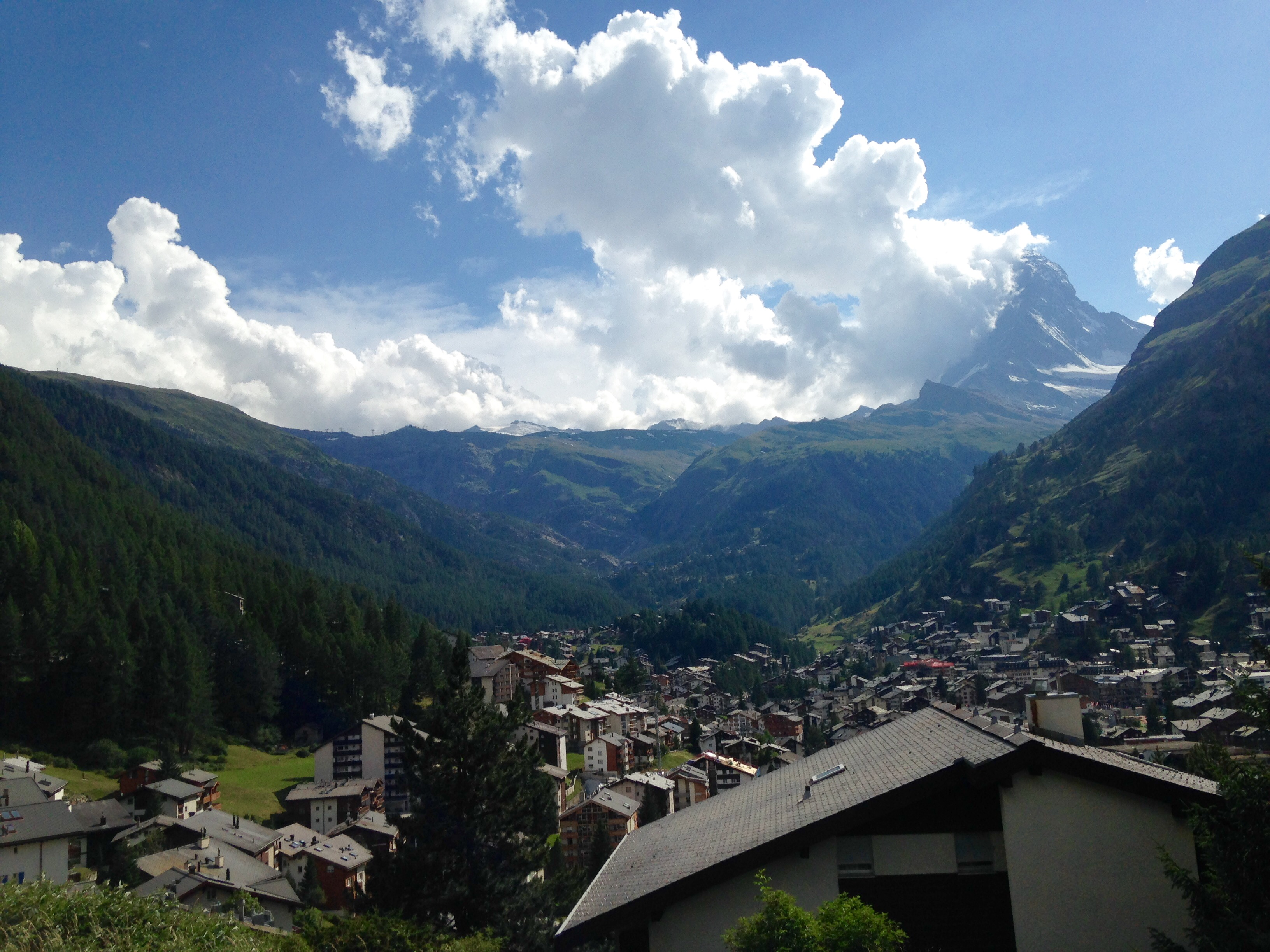 View from the chalet to the Matterhorn