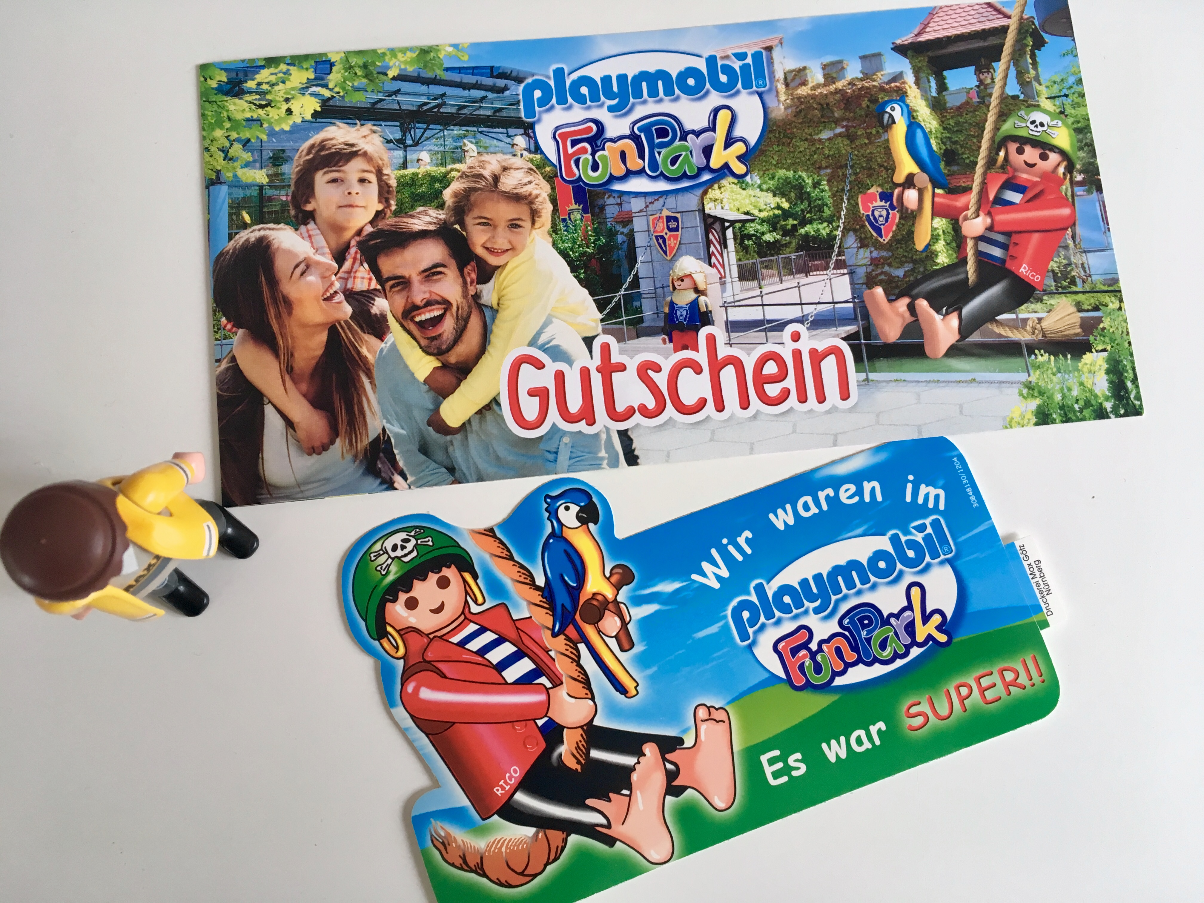 Raffle of 3x4 tickets for PLAYMOBIL FunPark