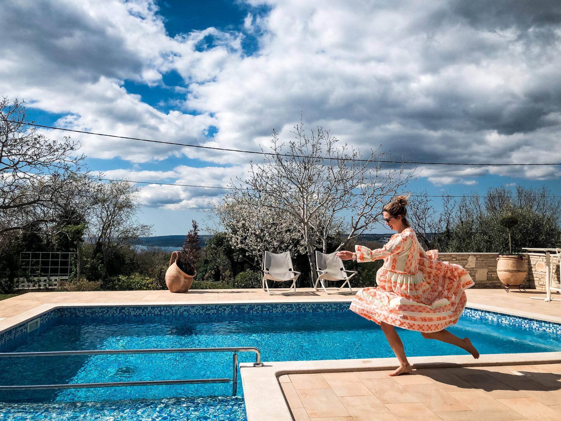 Ferienhäuser in Istrien mit Pool, Whirlpool und Meerblick Villa Laura